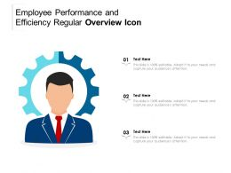 Employee Performance And Efficiency Regular Overview Icon