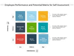 Employee Performance And Potential Matrix For Self Assessment
