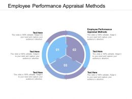 Employee Performance Appraisal Methods Ppt Powerpoint Presentation Show Gallery Cpb