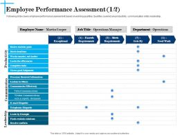 Employee Performance Assessment Cooper Powerpoint Presentation Skills