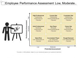 Employee Performance Assessment Low Moderate And High