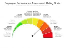Employee Performance Assessment Rating Scale Infographic Template
