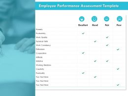 Employee Performance Assessment Template Cooperation Ppt Powerpoint Presentation File Objects
