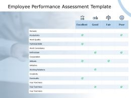 Employee Performance Assessment Template Coorperation Creativity Ppt Powerpoint Presentation Summary Model