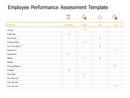 Employee Performance Assessment Template Productivity Ppt Powerpoint Presentation