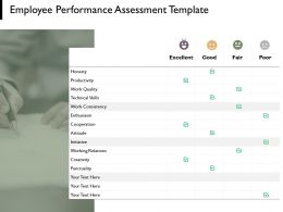 Employee Performance Assessment Template Technical Skills Planning Ppt Powerpoint Presentation