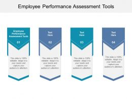Employee Performance Assessment Tools Ppt Powerpoint Presentation Inspiration Cpb