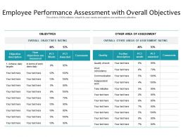 Employee Performance Assessment With Overall Objectives