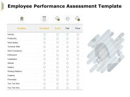Employee Performance Assessment Work Consistency Ppt Powerpoint Presentation