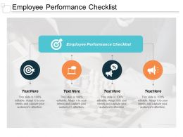 Employee Performance Checklist Ppt Powerpoint Presentation Slides File Formats Cpb