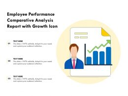 Employee Performance Comparative Analysis Report With Growth Icon