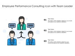 Employee Performance Consulting Icon With Team Leader