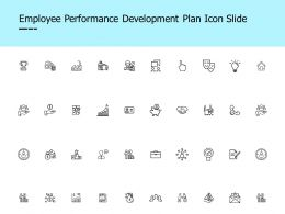 Employee Performance Development Plan Icon Slide Idea Bulb Ppt Presentation Slides