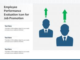Employee Performance Evaluation Icon For Job Promotion