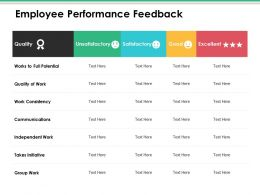 Employee Performance Feedback Ppt Infographic Template Visuals