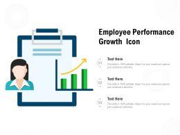 Employee Performance Growth Icon