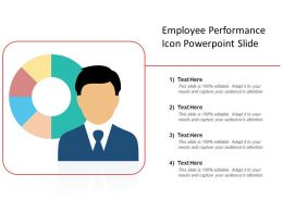 Employee Performance Icon Powerpoint Slide