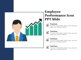 Employee Performance Icon Ppt Slide