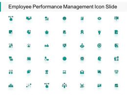 Employee Performance Management Icon Slide Bulb I197 Ppt Powerpoint Presentation Show