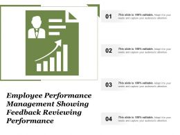 Employee Performance Management Showing Feedback Reviewing Performance