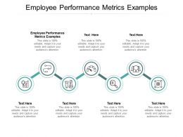 Employee Performance Metrics Examples Ppt Powerpoint Presentation Icon Grid Cpb