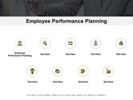 Employee Performance Planning Ppt Powerpoint Presentation Styles File Formats Cpb