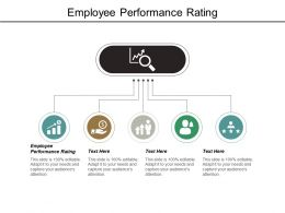Employee Performance Rating Ppt Powerpoint Presentation Graphics Cpb