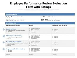 Employee Performance Review Evaluation Form With Ratings