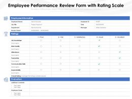 Employee Performance Review Form With Rating Scale