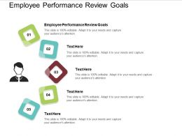 Employee Performance Review Goals Ppt Powerpoint Presentation Infographics Samples Cpb