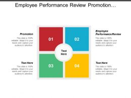 Employee Performance Review Promotion Business Ideas Working Environment