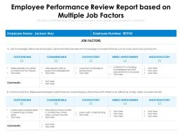 Employee Performance Review Report Based On Multiple Job Factors