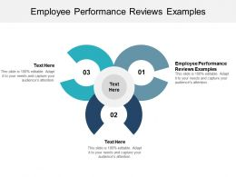 Employee Performance Reviews Examples Ppt Powerpoint Presentation Portfolio Inspiration Cpb