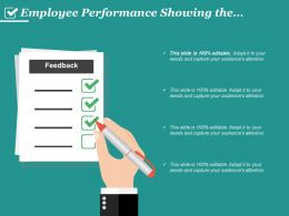 Employee Performance Showing The Feedback Form