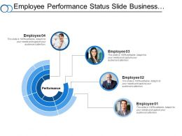 Employee Performance Status Slide Business Administration