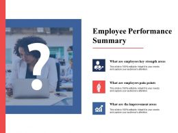 Employee Performance Summary Employees Ppt Powerpoint Presentation Files