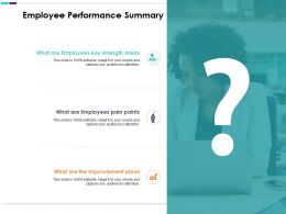 Employee Performance Summary What Are Employees Key Strength Area