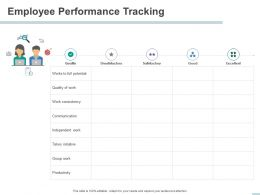 Employee Performance Tracking Consistency Ppt Powerpoint Presentation Icon Elements