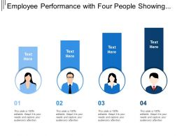 Employee Performance With Four People Showing Graphs