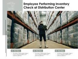 Employee Performing Inventory Check At Distribution Center