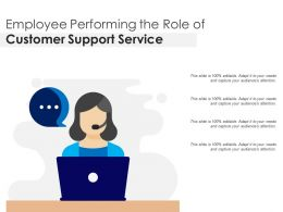 Employee Performing The Role Of Customer Support Service