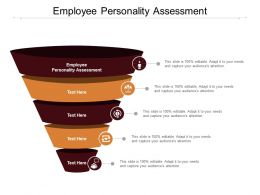 Employee Personality Assessment Ppt Powerpoint Presentation Professional Show Cpb