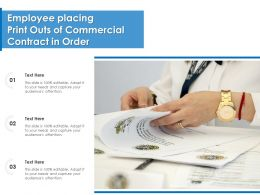 Employee Placing Print Outs Of Commercial Contract In Order