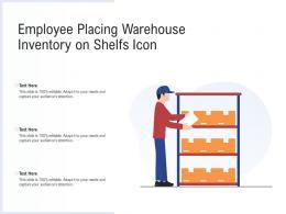 Employee Placing Warehouse Inventory On Shelfs Icon