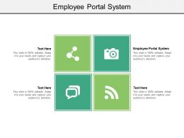 Employee Portal System Ppt Powerpoint Presentation Professional Example Cpb