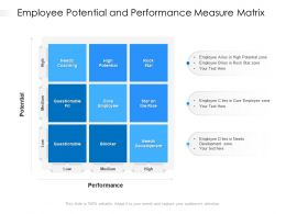 Employee Potential And Performance Measure Matrix