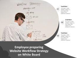 Employee Preparing Website Workflow Strategy On White Board