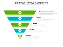 Employee Privacy Compliance Ppt Powerpoint Presentation Gallery Format Ideas Cpb