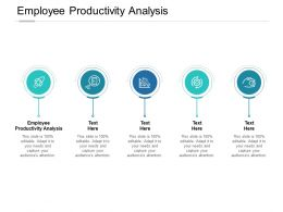 Employee Productivity Analysis Ppt Powerpoint Presentation Infographics Information Cpb