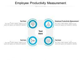 Employee Productivity Measurement Ppt Powerpoint Presentation Ideas Maker Cpb